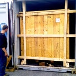 Osiguranje sanduka u kontejneru