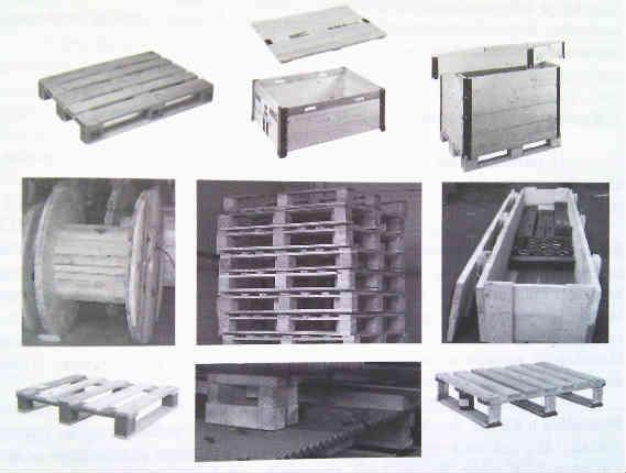Različiti oblici ambalaže za drvo