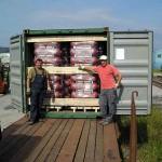 Pakiranje drvene gajbe u kontejner